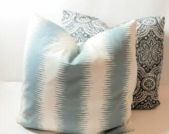 Jiri Saffron/Dakota Timberwolf Gray/Macon Pillows Decorative Throw Pillow Cover Choose Size Single or Set of Two Premier Prints Pillow Cover