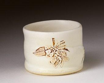 Ceramic Bar Ware - Stoneware Glass - Ceramic Hi Ball Cup - Barware - Toothpick Holder - Votive Candle Holder - Cotton Swab Holder