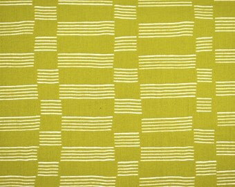 SALE - Lotta Jansdotter Lucky Collection - Etapp in Green Olive - 100% woven cotton fabric by the yard