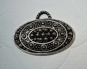 Oval Pendant and/or Bail 28mmx18mm