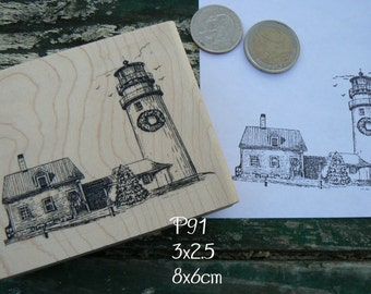 P91 Lighthouse rubber stamp