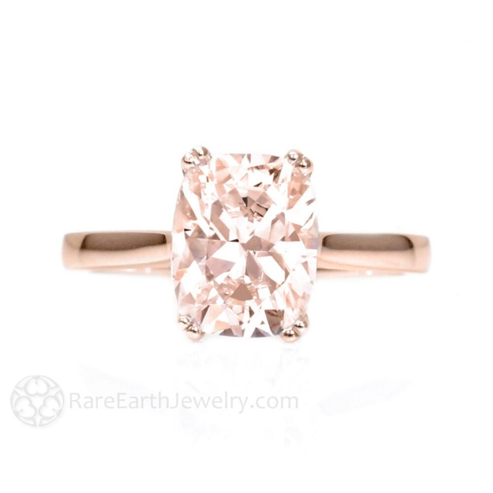 ... Morganite Engagement Ring 14K White Yellow Rose. 🔎zoom