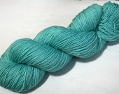 hand dyed yarn - Shimmer Sock - Just Swimmingly colorway