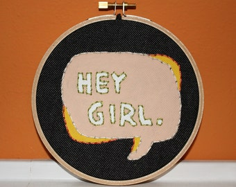 Hey Girl Needlework Sampler