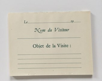 6 Vintage French Ephemera Sheets