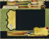 School Days - Page de Scrapbook Premade 12 x 12