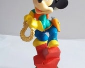 "Cowboy Mickey Mouse - Rare Vintage Chess Piece (King) from ""Walt's Cargo"" Chess Set"
