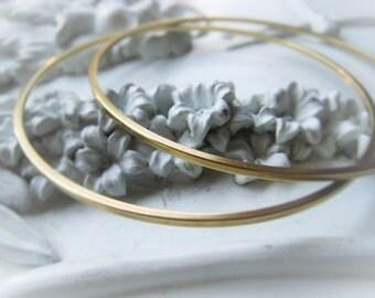 Gold Brass Bangle Round Bangle Bracelet Item No. 1547