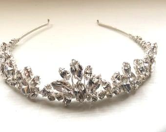 Bridal hair accessories, wedding hairband, hairpiece, vintage style hairband, headband, crystal