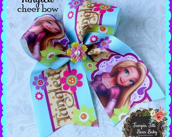 Tangled Rapunzel Cheer Bow