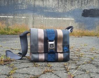 Seat belt bag purse messenger bag recycled seatbelt