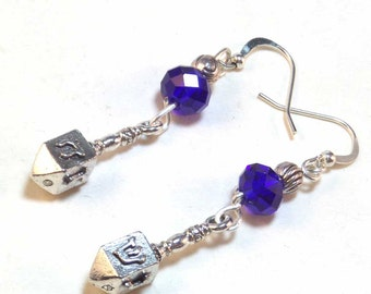 Hanukkah Dreidel Earrings