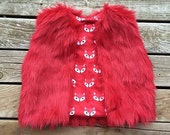 SALE Fur Vest PDF Sewing Pattern with Tutorial sizing for 6 months through 12 girls Instant