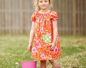 Peasant dress pattern with pockets Whimsy Couture Tutorial -- 0m - 12 girls PDF Instant