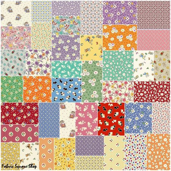 Marcus Brothers Aunt Grace Precut 10 Fabric Squares