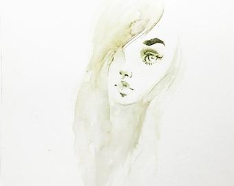 Hazel - original watercolor sketch