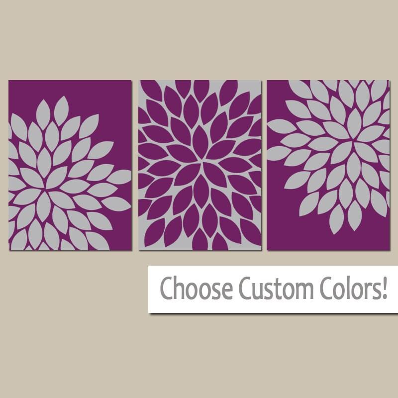 purple gray wall art eggplant bedroom canvas or print. Black Bedroom Furniture Sets. Home Design Ideas