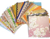 57pc Scrapbooking Paper Pack, Origami Papers, Journalling Decoupage Scrap Supplies Lot, Washi Japanese Print Ephemera, Cute Patterned -Set E
