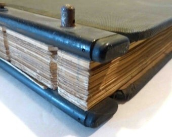 Vintage Tabbed Ledger 1960 Full Blank & Filled Pages