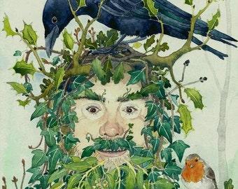 Green Man  fine art print by Danielle Barlow
