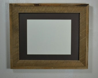 Gallery style 11x14 picture frame with 8x10 charcoal mat