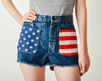 Vintage Acid Wash American Shorts