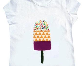 Ice Lolly Tee Shirt / Girls Ice Cream T-Shirt / Animal Top / Children's / Kids / Baby Clothes