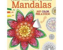 Color Your Own Sticker Mandalas Coloring Book • Design Originals • Color Your Own Sticker Mandalas Colouring Book (FOX-5585)