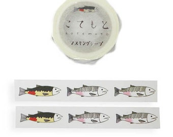 Salmon Kotemoto Masking Tape • 鮭 Japanese Washi Tape (KM-052)