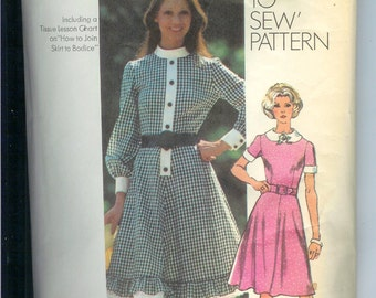 Simplicity Misses DRESS Also in Half Sizes  Sewing Pattern 9849  Size 18  Bust 40   A How To Sew Pattern  UNCUT