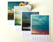 2016 Calendar . desk calendar . In Stock . FREE SHIPPING .typographic print. quotes . affirmation. inspirational . nature photograph. dreamy