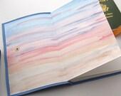 Large Blue Leather Journal and Sketchbook Southwest Desert Inspired Leather Book Handmade Artisan Journal Leather Travel Journal