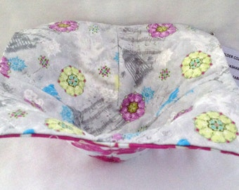 Bowl Potholder Cozy Microwave Hot Pad Fabric Bowl  Floral Prints Teacher Gift Great For Hot Or Cold Food