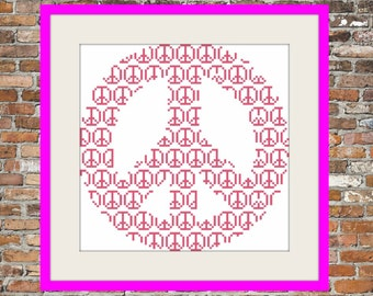 Peace on Peace - Counted Cross Stitch Pattern