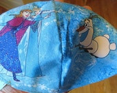 Frozen sisters with Olaf Disney kippah or yarmulke sisters skating---gift for your child, grandchild, special someone
