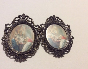 Pair of Vintage Made in Italy Ornate Frames