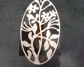 Filigree Oval Pendant, Forever Silver, 40 MM, AS375
