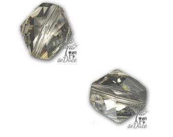 Destash 6 pcs 12mm Swarovski 5523 Cosmic Crystal Silver Shade Beads