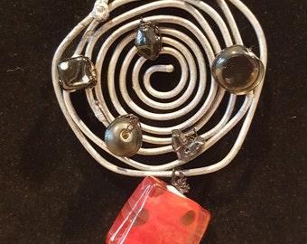 Spiral Wire pendant