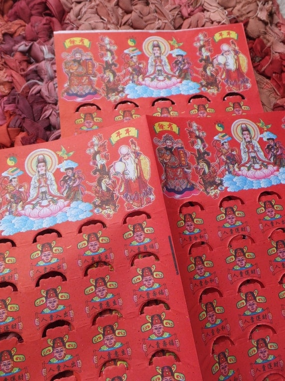 Chinese red joss paper decorative wrapping scrapbook