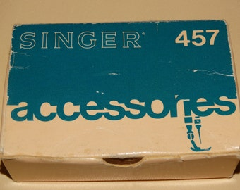 1951 Vintage Singer Accessories 457, Stylist Sewing Part, Circa 1960s, Sewing Machine, Cording Sewing Foot 161127, Presser Foot, 161455