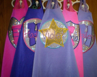 Colorful SuperHero Cape and mask - personalized
