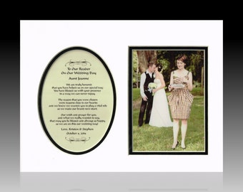Personalized To Our Reader wedding bridal party favor picture poem gift
