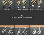 Diamond Shaped Multi Links Earrings- Sterling Silver or Gold Filled (6 Available Colors)
