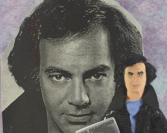 Neil Diamond Doll Miniature Fan Art Character Pop Music Star