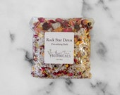 Rock Star Detox - Detoxifying Bath - Rustic Herbs & Sea Mineral Salt Soak 5 oz - Organic Bath Salts by Angel Face Botanicals