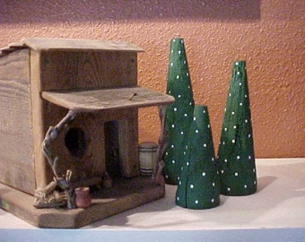 3 Wooden CHRISTMAS TREES~Christmas Tree Decor~~ Primitive Trees~Country Christmas Decor - Christmas Decorations~~for Your Christmas Mantle!