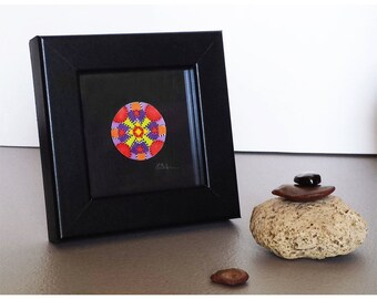 First Paper Anniversary Wedding Gift for Couple Mandala Miniature Psychedelic Spiritual Art Zen Boho Decor
