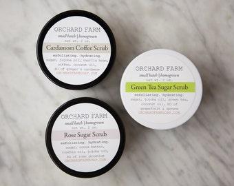 Sugar Scrub Trio//Organic Scrub//Facial Scrub//Body Scrub
