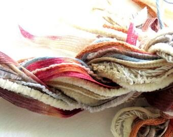 Fibers Lot - Dreamcatcher Supplies - Altered Art Supplies Knitting Supplies - Crocheting Supplies - Scarf Supplies - Yarn For Crafts
